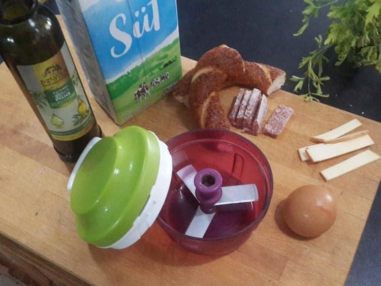tek yumurtalı omlet